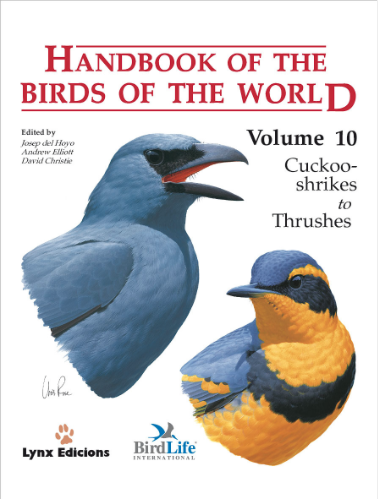 Handbook of the birds of the world Vol.10 / Envoi offert