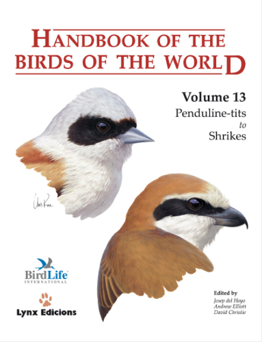Handbook of the birds of the world Vol.13 / Envoi offert