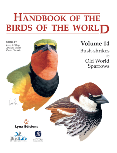 Handbook of the birds of the world Vol.14 / Envoi offert