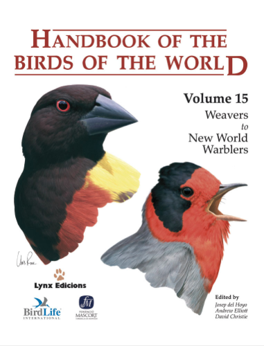 Handbook of the birds of the world Vol.15 / Envoi offert
